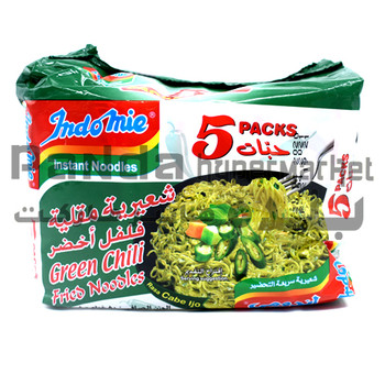 Indomie Fried Noodles Green Chilly 80GmX5