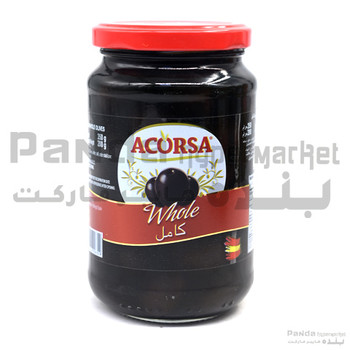 Acorsa Olives Black Plain Jar 350gm