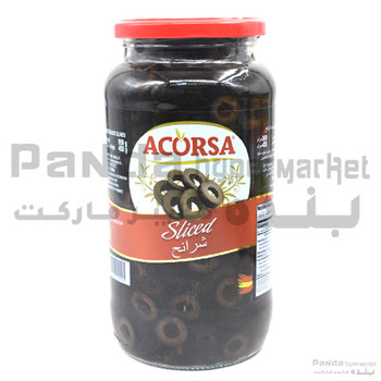 Acorsa Olives Black Sliced Jar 450Gm