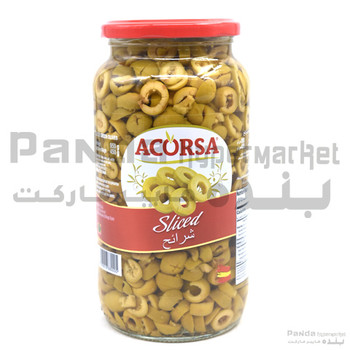 Acorsa Olives Green Sliced Jar 450Gm