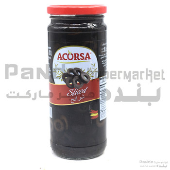 Acorsa sliced Olives Black470g