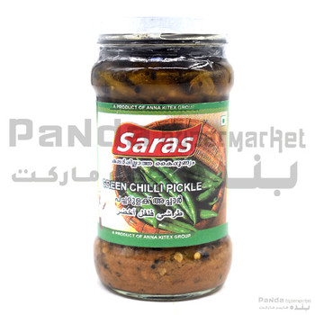 Saras Green Chilly Pickle 300gm