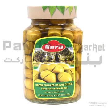 Sera Cracked Green Olives 700gm
