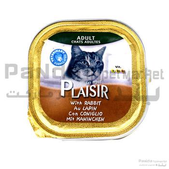 Plaisir cat Food rabbit tray 100gm