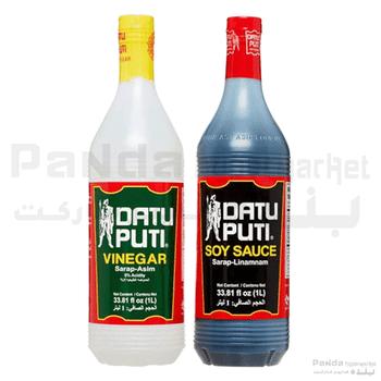 Datu Puti Vinegar + Soya Sauce-1ltrx2pcs