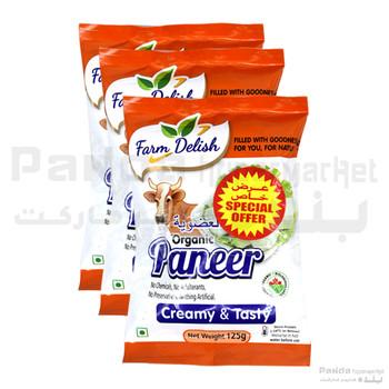 Farm Delish Organic Paneer125gmX3pcs