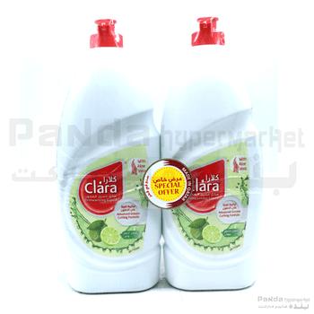 Clara DishWashing Liquid Lime & Aloe 2x750ml