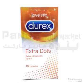 Durex Condom Extra Dots 10Pcs X 1Pkt.