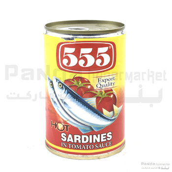 555 Sardines Hot In Tomato Sauce Red 425gm