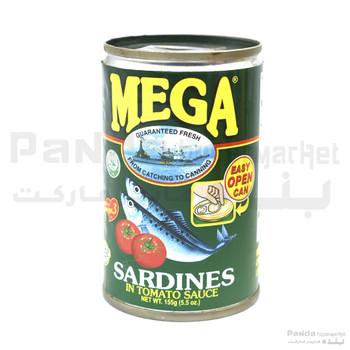 Mega  Sardines In Tomato Sauce 155gm