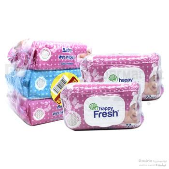 Happy Fresh Wet Wipes Asstd 72X3pcs