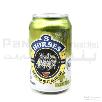3 Horses Flavour Can Apple 330ml
