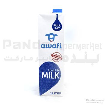 Awafi Milk Full Fat 1Ltr