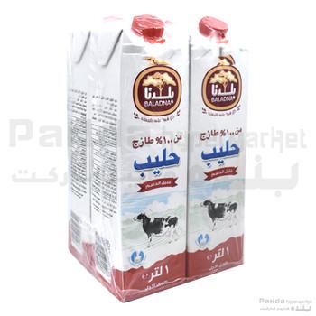 Baladna Low Fat Milk Long Life 1ltr X 4Pcs