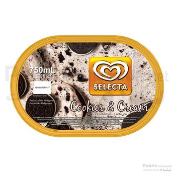 Selecta Cookies & Cream Ice Cream 750ml