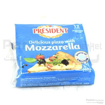 President mozzarella slice cheese200gm