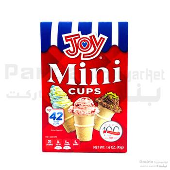 Joy Mini Icecream Cup 42cones