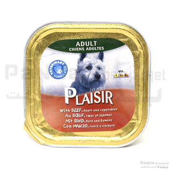 Plaisir dogs paté rich in beef with heart and vegetables Dog Food
