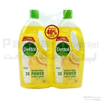 Dettol Floor Cleaner Lemon 1ltr x 2pcs