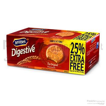 Mcvities Digestive Biscuits Original 500g 25% Extra