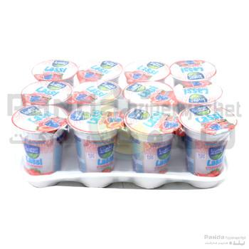 Al Maha Strawberry Lassi Cup 180ml X 12Pcs