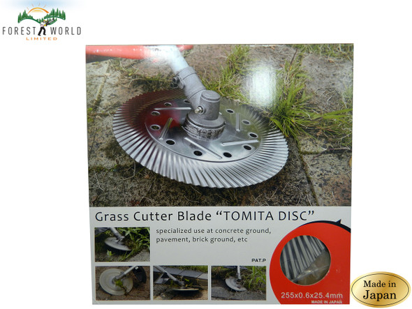 Japanese TOMITA strimmer blade,use at concrete ground,remove grass weed moss