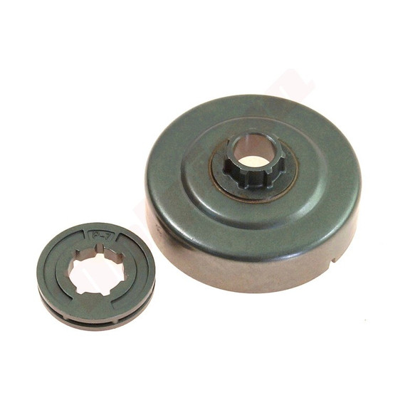 Stihl: 017 018 019 021 023 025 MS170 MS171 MS181 MS190T MS191T MS192 MS210 MS211 MS230 MS250 clutch drum with rim 3/8LP Picco, 7 Tooth 11230071030