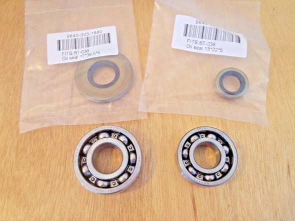 Crank crankshaft bearings and oil seals for Stihl MS380, 038, Made in Japan,OEM 9503 003 0340, 9503 003 0440, 9640 003 1880