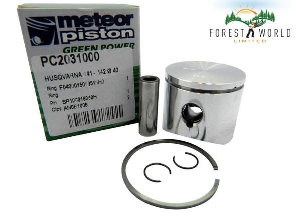 Husqvarna 41,141,142 piston kit,40 mm, 530 06 94 54,Made in Italy by METEOR