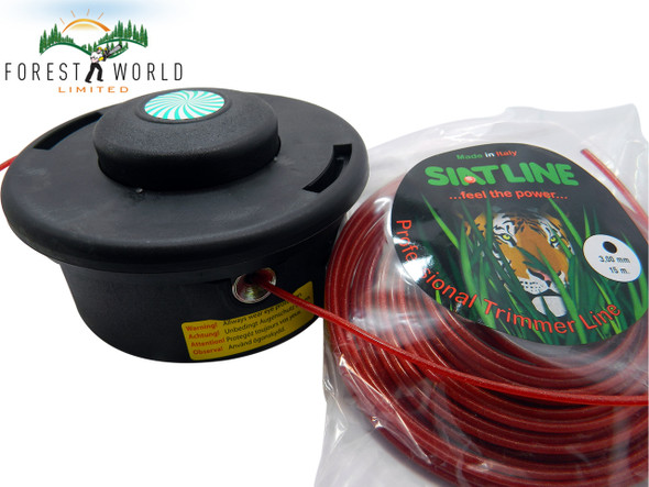 PEJO strimmer cutting bump head,LARGE,with 3 mm SIAT Heavy Duty line,M12x1,75LH