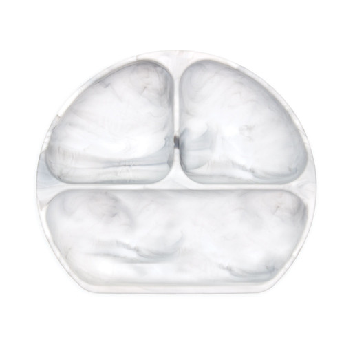 Silicone Grip Dish -Marble