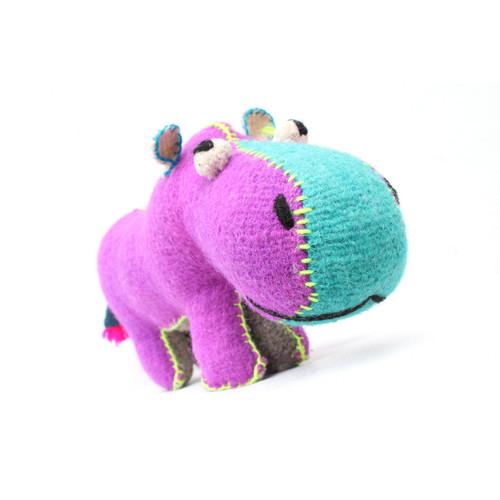 Handmade Decorative Wool Hippo