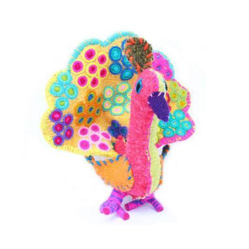 Handmade Decorative Wool Peacock