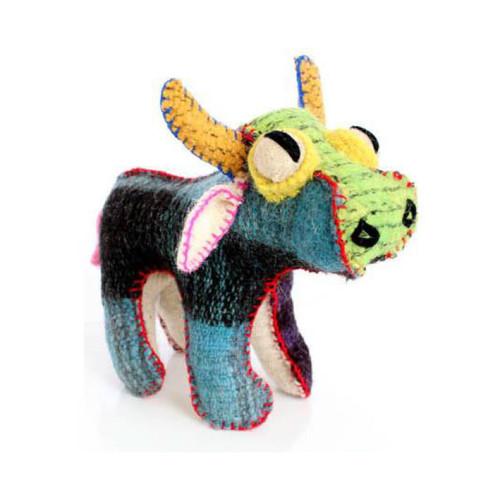 Handmade Decorative Wool Bull