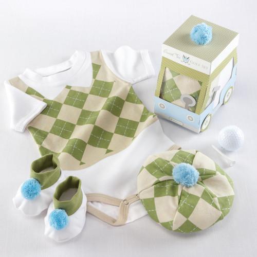 Sweet Tee 3 Piece Golf Layette Gift Set