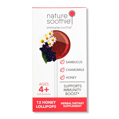 Immune Soothie Box of 12 Natural Ingredients Lollipops