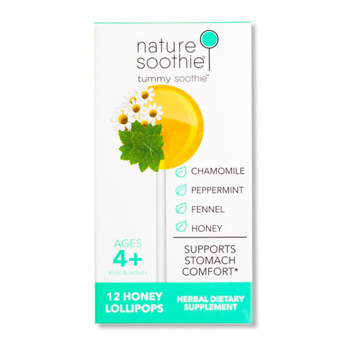 Tummy Soothie Box of 12 Natural Ingredients Lollipops