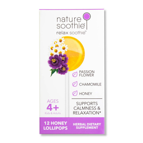 Relax Soothie Box of 12 Natural Ingredients Lollipops