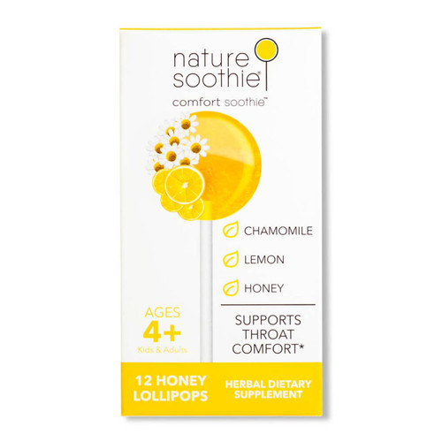 Comfort Soothie Box of 12 Natural Ingredients Lollipops