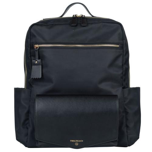 Peek-A-Boo Backpack Diaper Bag in Black