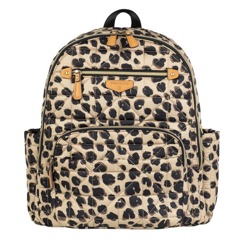 Companion Backpack Diaper Bag in Leopard Print 2.0