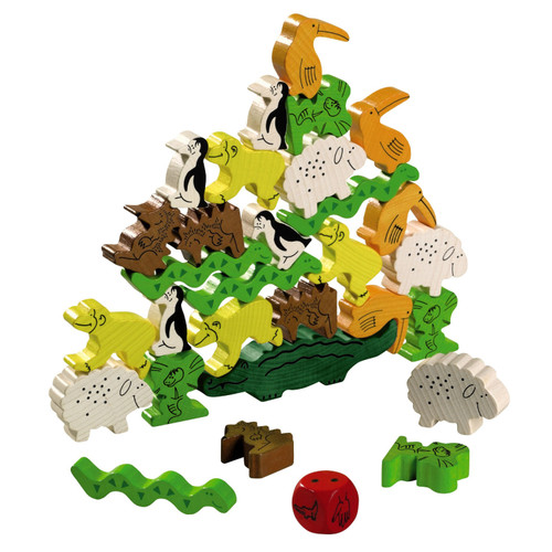 Animal Upon Animal Stacking Board Game