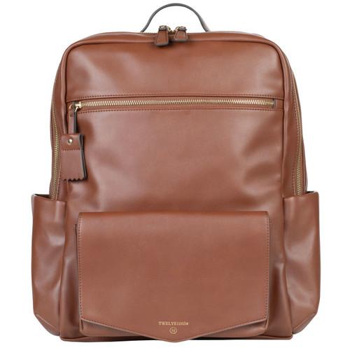 Peek-A-Boo Backpack Diaper Bag in Toffee