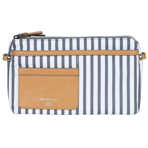 By-My-Side Crossbody Diaper Bag in Stripe Print