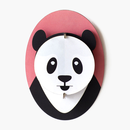 Decorative 3D Cardboard Panda Head