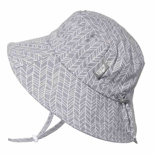 Cotton Gro-With-Me® Sun Bucket Hat – 50+ UPF – Herringbone