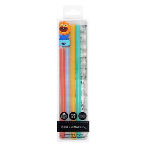 Reusable Silicone Straws Family Set