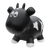Inflatable Bouncing Black Cow with Pump