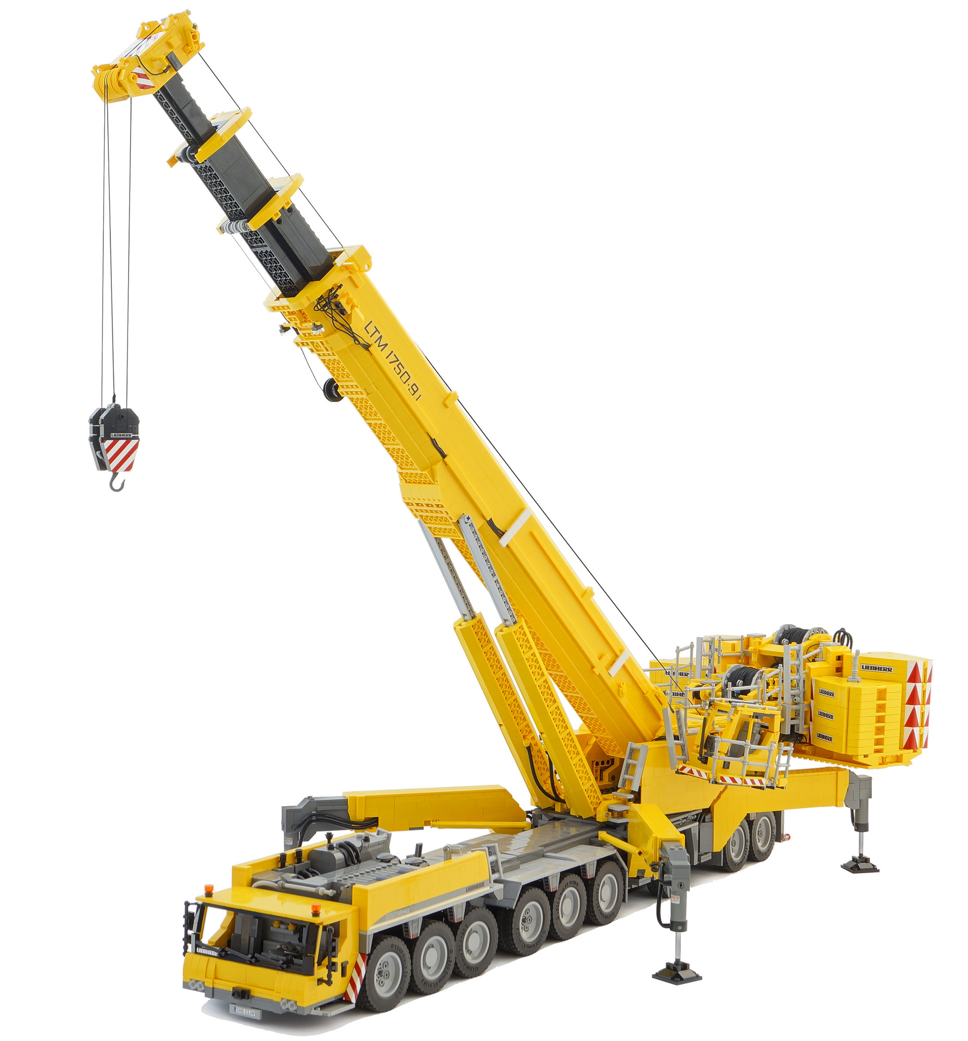 Incredible Remote Controlled Lego Model Liebherr Ltm 1750 91 Mobile