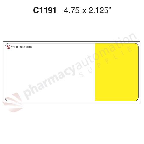 "Custom 2.125"" x 4.75"" Direct Thermal ParataMax Rx Label - Form C1191 w/Kits"